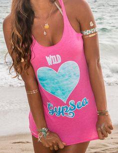 Wild Heart GypSea Tank on ETSY www.mermaidsoulwahine.etsy.com