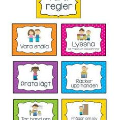Classroom Rules, School Classroom, Learn Swedish, Swedish Language, Preschool, Teacher, Education, Learning, Creative
