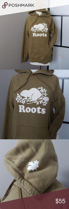 e96a4be96 Shop Women's Roots Tan Green size M Sweatshirts & Hoodies at a discounted  price at Poshmark. Description: Roots Canada Original Kanga khaki unisex  hoodie ...