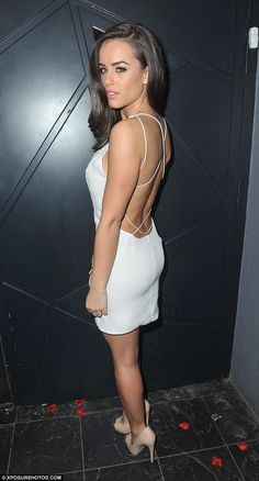 Georgia May Foote was having yet another celebration for turning wearing a sophisticated backless white mini-dress on a night out in Manchester on Saturday night Backless Mini Dress, White Mini Dress, Seductive Women, Sexy Women, Georgia May Foote Instagram, Celebs, Celebrities, Daily Fashion, Dress To Impress