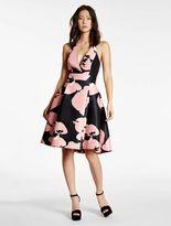 Halston Printed Structured Dress