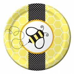 Bumble Bee Party Dessert Plates (8)