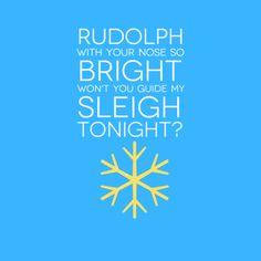 Rudolph the red-nosed reindeer.   #lyrics