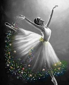 Best Picture For modern Dancing Drawings For Your Taste You are looking for something, and it is goi Ballerina Painting, Ballerina Art, Ballet Art, Ballet Dancers, Ballerinas, Ballet Drawings, Dancing Drawings, Art Drawings, Dance Paintings