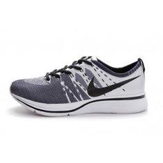 sports shoes 79ba6 aeaa2 Nike Flyknit Trainer+ Damesko Hvit Svart   Nike billige sko   kjøp Nike sko  på nett   Nike online sko   ovostore.com