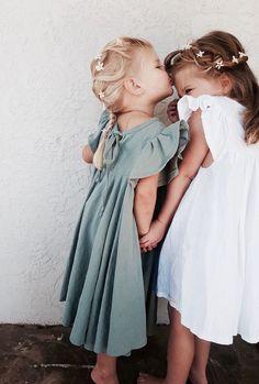 Girls Handmade Linen Savanna Dresses | MiyaAndMa on Etsy