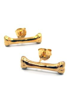 Han Cholo Earrings The Bone Earrings in Gold Plated Stainless Steel Gold