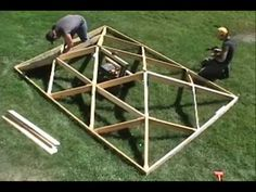 World's Fastest Wooden Hip Roof - really interesting folding roof - could be modified to make a space transformative, indoor when desired vs outdoor when desired