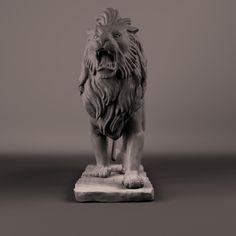 maya sculpture lion stone