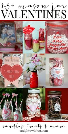 25+ Mason Jar Valentines   anightowlblog.com