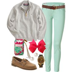Chilly Spring by classically-preppy, via Polyvore
