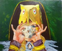Freyja and Coyote Skull, Oil on Canvas, x 2011 Norse Goddess, Norse Mythology, Coyote Skull, Oil On Canvas, Painting, Art, Art Background, Painting Art, Kunst