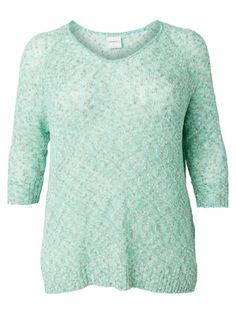 Oversized knit from JUNAROSE. It's light and perfect for warm spring nights. #junarose #knit #pastel #mint #plussize