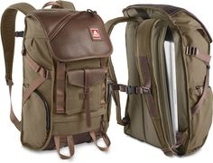 JanSport Pleasonton Pack - cotton twill and leather bag with dedicated, easy access compartments for your laptop, iPad, and other toys and gadgets $250