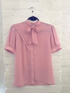 Perfectly Pink Short-Sleeved Blouse