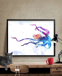 Octopus Watercolor Print Octopus Art Print by FineArtCenter