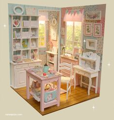 Nerea Pozo Art: ♥ Handmade miniature diorama  COTTON CANDY CRAFT R...