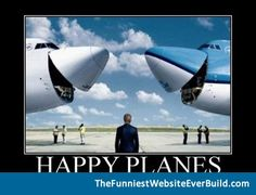 funny plane | Happy planes funny poster