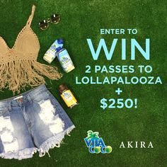 It's #Cocopalooza time! We've teamed up with @vitacoco to give one lucky winner (and a friend) two 3-Day GA passes to @Lollapalooza and a $250 e-gift card to @shopakira to get festival-ready! Enter to win:  1. Follow @vitacoco and @shopakira on Instagram 2. Tag a friend you'd bring to Lollapalooza  Visit vitacoco.com/cocopaloozarules for details  #lollapalooza #vitacoco #ShopAKIRA
