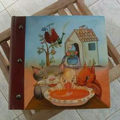 Custom Album, Scrapbook for a little girl to keep family memories. Front and Back Pages display the main characters of her beloved fairytales.