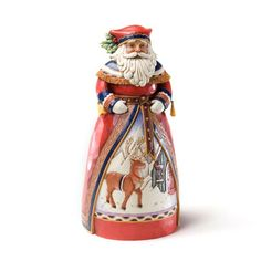 Jim Shore Heartwood Creek from Enesco Lapland Santa with Deer Scene Figurine 10 IN ** See this great product.