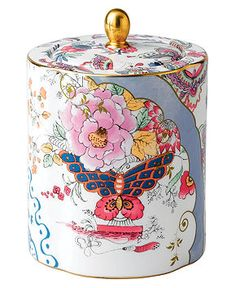 Wedgwood Dinnerware, Butterfly Bloom Tea Caddy - Fine China - Dining & Entertaining - Macy's