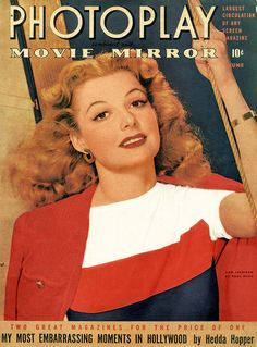 Ann Sheridan, Photoplay/Movie Mirror Magazine,