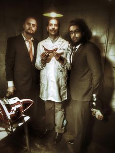 """""""Weapons Corner"""" with Doctor Smith.  Hanging with producers Danijel and Manav.  Super fun, wild and whacky shoot! http://www.jitterymonkeys.com/"""