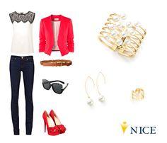 El outfit ideal para este fin de semana casual y cómodo con elemento de color rojo vibrante.
