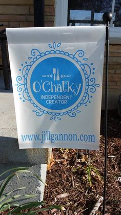 O'Chalky garden flag - I just love these flags - be sure to check out my O'Chalky Pinterest board too