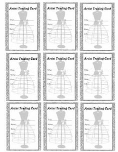 ** Znaczki darmo rocznika Digital **: do druku Darmowe - Karta Artist Trading Sukienka Formularz Wytwórnia