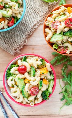 This Classic Italian Veggie Pasta Salad is made with the easiest homemade Italian dressing ever! It can be made the night before - perfect for Summer BBQs!