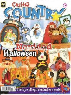 Revista Casita Country 42, Hermosas manualidades country de Halloween y Navidad. (Haz click en las imagenes para ampliarlas)…