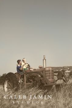 Tractor - Farming - Love - Engagement Photo