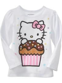 hello kitty cupcake tee for the bday girl