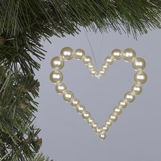 pearl heart christmas decoration