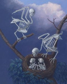 nesting skeletons and their young