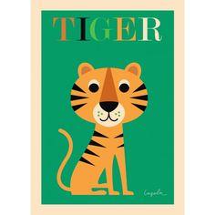 Poster Omm Design Ingela Arrhenius Tiger