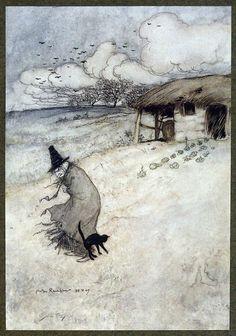 Arthur Rackham (1867-1939):  'There´s an old woman dwells upon Tappington Moor'