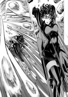 One punch Man Manga -Fubuki vs Saitama One Punch Man Anime, Anime One, Opm Manga, Tatsumaki One Punch Man, Fighting Poses, Comic Page, Action Poses, Manga Drawing, Manga Comics