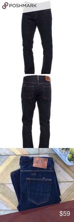 """•PRPS• Men's Dk Rambler Skinny Fit Jeans 34 X 34 Selvedge dark denim jeans by PRPS. Rambler skinny fit with 5-pocket style. Button closure.  Gently Pre-owned - No stains, tears or holes.   Size: 34 X 34 -- They run a bit small, so please check measurements. Material: Cotton  Approx. Measurements: (Seam to seam laying flat)  Waist: 17.5"""" Inseam: 34"""" Front Rise: 10"""" Back Rise: 14.5"""" Bottom Opening: 7.5""""  Non-smoking, dog-friendly household. Reasonable offers welcome!   ***Please check…"""