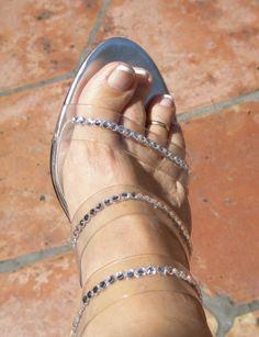 Crystal High Heels 2.5 inches  High Heels Genuine by ShadesOfBling (Accessories, Women, crystal high heels, wedding heels, crystal heels, rialto heels, bling heels, bedazzled heels, crystal embellishe, swarovski, crystal sandals, sparkle heels, brides heels, crystallized heels, shades of bling)