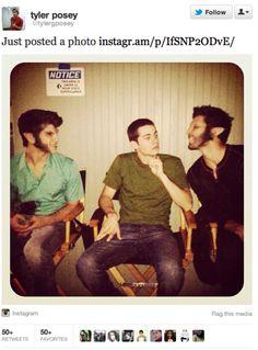 Tyler Posey (Scott) , Dylan O'Brien (Stiles) , & Tyler Hoechlin (Derek) - Teen Wolf