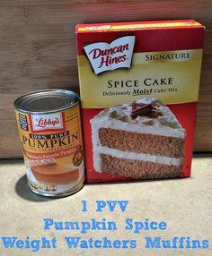 1 PVV Pumpkin Spice Weight Watchers Muffins
