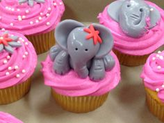Chardy S Pink Elephant Cupcakes For Arlene Birthday