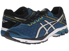 ASICS GT-1000 4 GTX® Mosaic Blue/Silver/Lime - Zappos.com Free Shipping BOTH Ways Asics Gt, Waterproof Shoes, Sports Shoes, Asics Shoes, Shoes Sneakers, Blue And Silver, Athletic Shoes, Mens Fashion, Mosaic