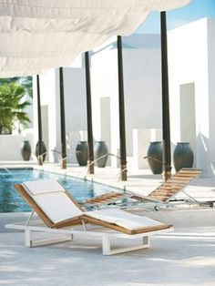 Gorgeous design idea — instead of a screened-in pool, how about a cabana-like covering?