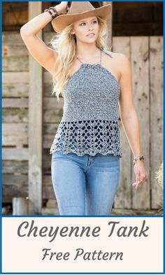 This adorable tank top is a free pattern from Joann. The weather is warming up and this top will add a versatile piece to your wardrobe. Dress it up with a lightweight jacket. #ad #crochet  #craft