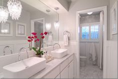lovely white on white bathroom