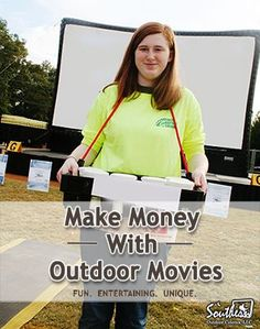 Are your school fundraisers boring?  Read these tips on how to make money with an outdoor movie event. Make Extra Money #Money #MakeMoney